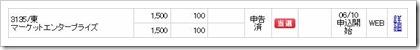 マーケットエンタープライズ(3135)IPO当選