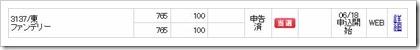 ファンデリー(3137)IPO当選