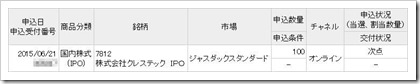 クレステック(7812)IPO次点