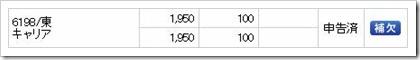 キャリア(6198)IPO補欠