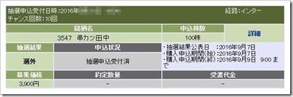 串カツ田中(3547)IPO落選