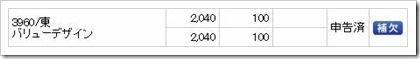 バリューデザイン(3960)IPO補欠当選