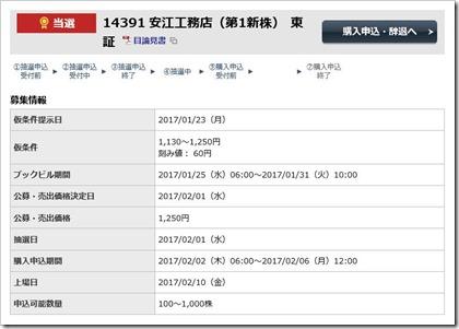 安江工務店(1439)IPO当選