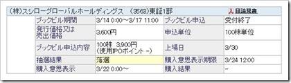 スシローグローバルホールディングス(3563)IPO落選