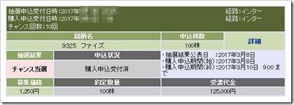 ファイズ(9325)IPOチャンス当選購入