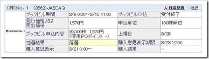 No.1(3562)IPO落選
