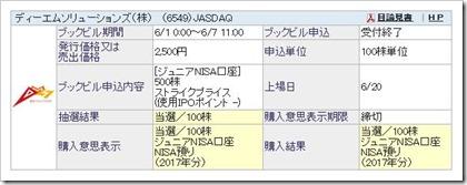 ディーエムソリューションズ(6549)IPO当選購入
