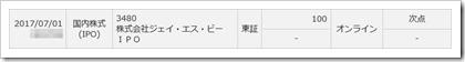 ジェイ・エス・ビー(3480)IPO落選