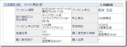 日本郵政(6178)PO売出し