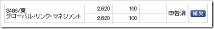 グローバル・リンク・マネジメント(3486)IPO補欠