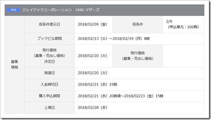 ジェイテックコーポレーション(3446)IPO岡三オンライン証券