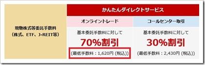 東海東京証券現物株式等委託手数料