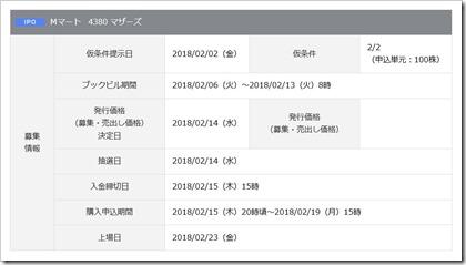 Mマート(4380)IPO岡三オンライン証券