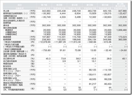 ビープラッツ(4381)IPO経営指標