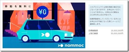 nommoc(ノモック)ファンディーノ(FUNDINNO)プロジェクト