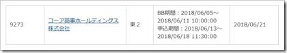 コーア商事ホールディングス(9273)IPOカブドットコム証券