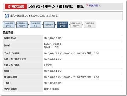 イボキン(5699)IPO補欠当選