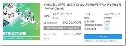 TASS投資申し込み完了