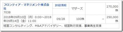 フロンティア・マネジメント(7038)IPOマネックス証券