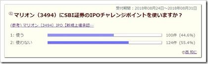 マリオン(3494)IPOチャレンジポイントアンケート結果