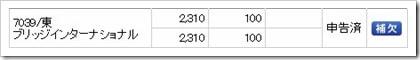 ブリッジインターナショナル(7039)IPO補欠
