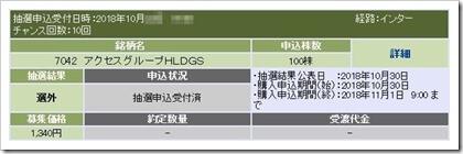 アクセスグループ・ホールディングス(7042)IPO選外