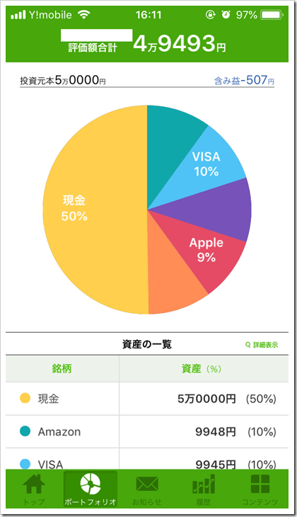 One Tap BUY評価損益2018.10.16