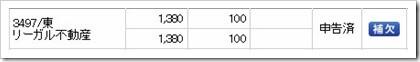 リーガル不動産(3497)IPO補欠