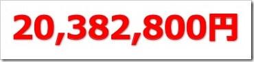 IPO総利益20,382,800円