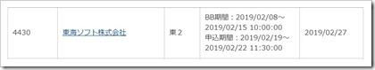 東海ソフト(4430)IPOカブドットコム証券