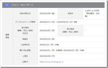 スマレジ(4431)IPO岡三オンライン証券