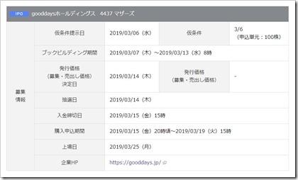 gooddaysホールディングス(4437)IPO岡三オンライン証券