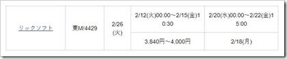 リックソフト(4429)IPO松井証券