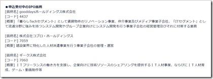 DMM株IPO抽選申し込み受付(2018.3.1)