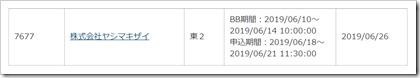 ヤシマキザイ(7677)IPOカブドットコム証券