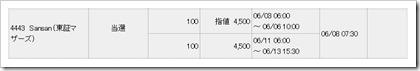 Sansan(4443)IPO当選2