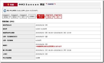 Sansan(4443)IPO当選