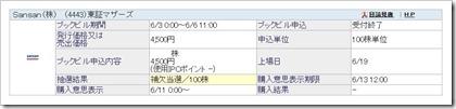 Sansan(4443)IPO補欠当選