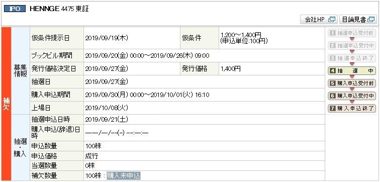 HENNGE(4475)IPO補欠