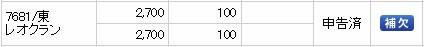 レオクラン(7681)IPO補欠