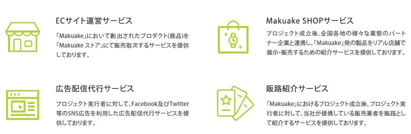 マクアケ(4479)IPOその他サービス