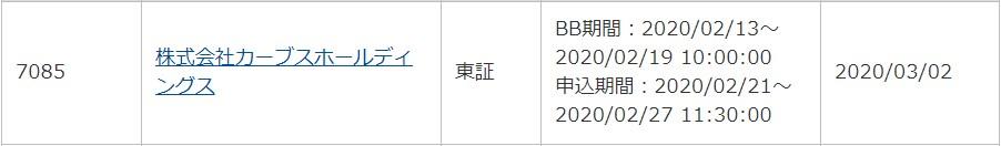 カーブスホールディングス(7085)IPO<span class=