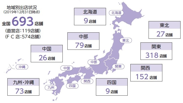 Fast Fitness Japan(7092)IPO店舗ネットワーク