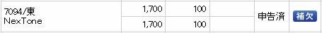 NexTone(7094)IPO補欠