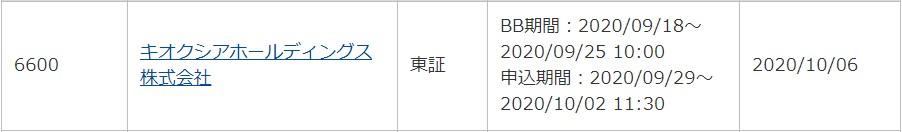 キオクシアホールディングス(6600)IPOauカブコム証券