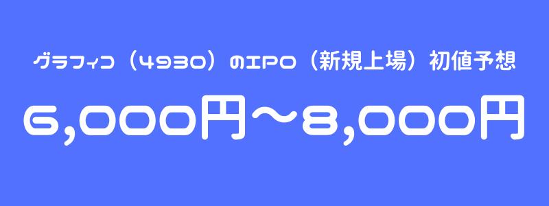グラフィコ(4930)のIPO(新規上場)初値予想