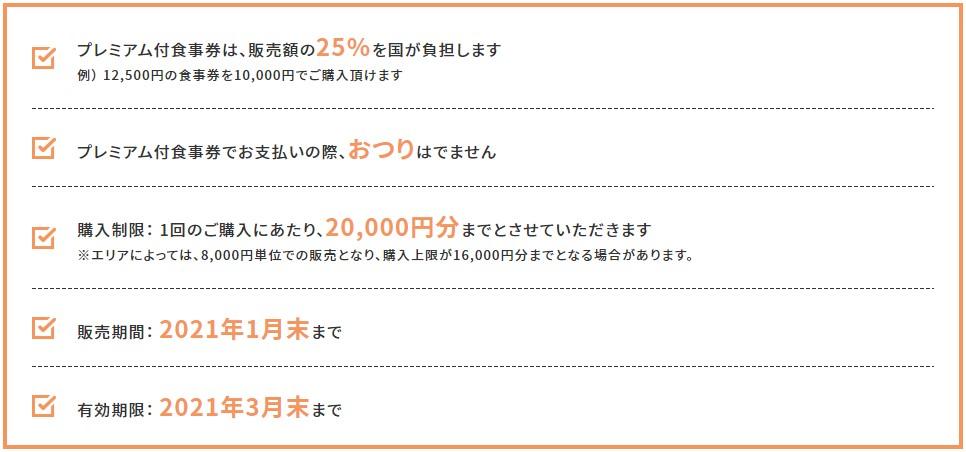 Go To Eat キャンペーン プレミアム