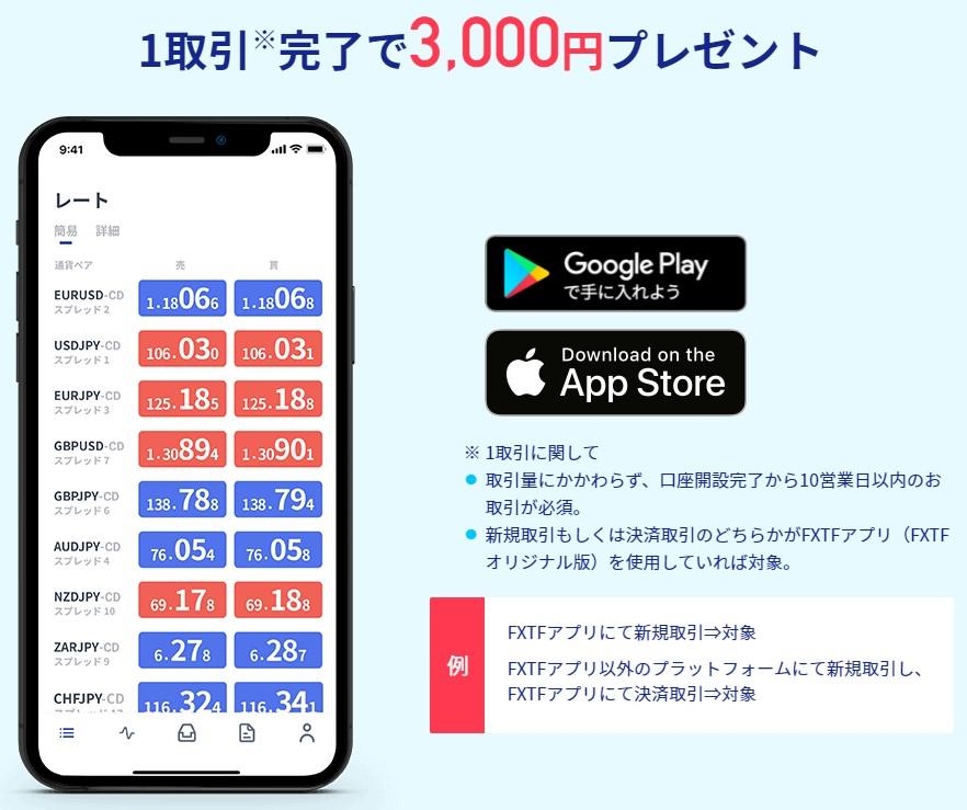 FXTF取引1回3000円