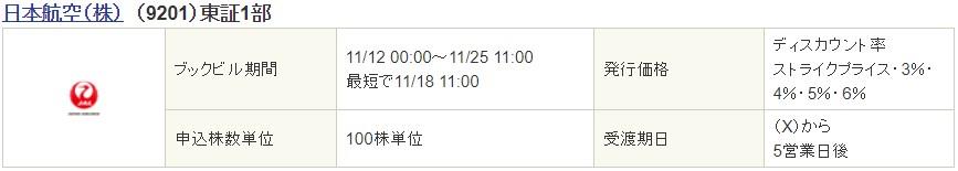 日本航空(9201)PO(株式売出)発表