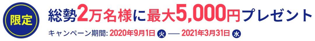 FXTFキャンペーン5000.2021.3.31